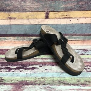 Mephisto air relax sandals black Sz 40